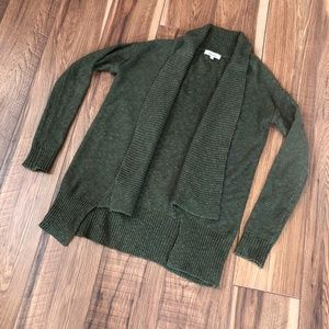 Mudd Olive Green Cable Knit Cardigan